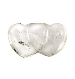 Bergkristal partnerhart 4,5 x 2,5 cm