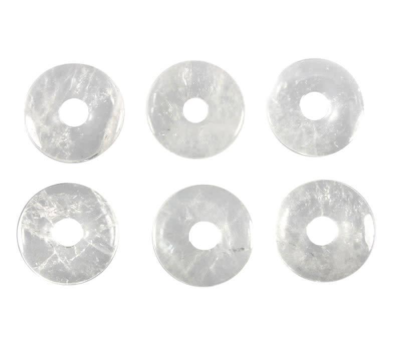 Bergkristal hanger donut 3 cm