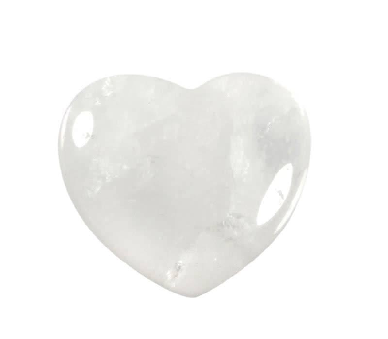 Bergkristal edelsteen hart 4 cm