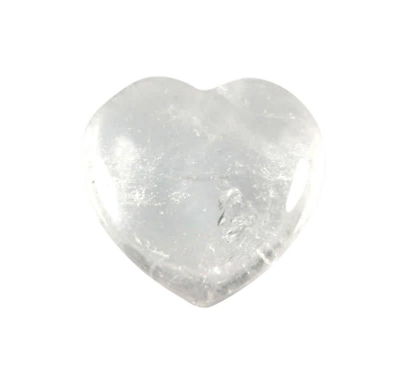Bergkristal edelsteen hart 3 cm