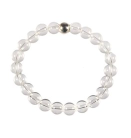 Bergkristal armband 20 cm | 8 mm kralen