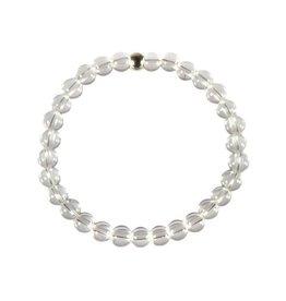 Bergkristal armband 18 cm | 6 mm kralen