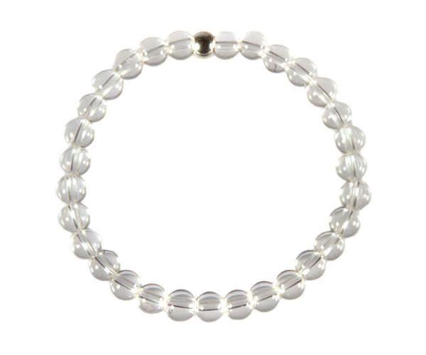Bergkristal armband 17 cm | 6 mm kralen