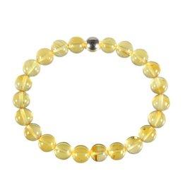 Barnsteen (geel) armband 20 cm | 8 mm kralen