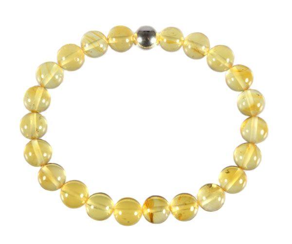 Barnsteen (geel) armband 18 cm | 8 mm kralen