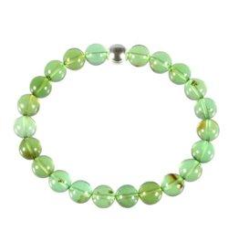 Barnsteen (natuurlijk groen) armband A-kwaliteit 18 cm   8 mm kralen
