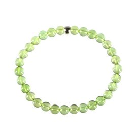 Barnsteen (natuurlijk groen) armband 18 cm | 6 mm kralen