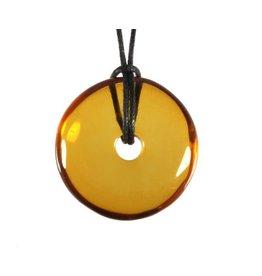 Barnsteen (Baltisch) helder hanger donut 2,8 - 3 cm