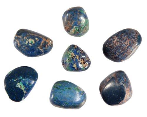 Azuriet-malachiet steen getrommeld 2 - 5 gram