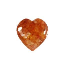 Azeztuliet (rode Himalaya) edelsteen hart 15 mm