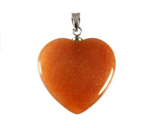Aventurijn (rood) hanger hart 20 mm