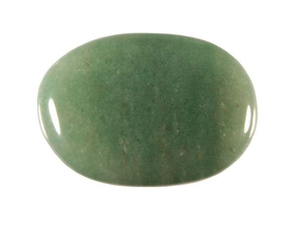 Aventurijn (groen) steen plat gepolijst