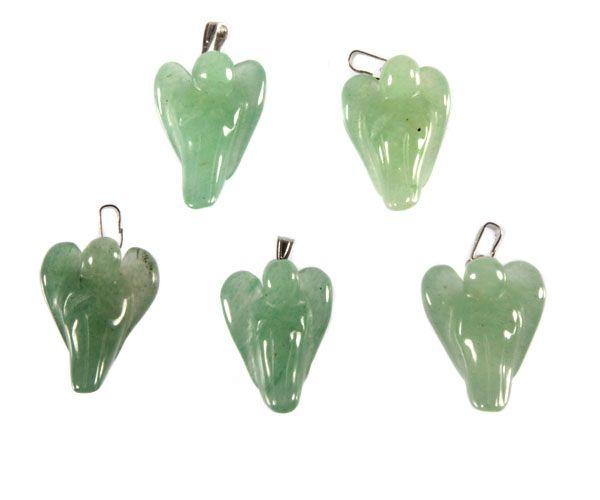 Aventurijn (groen) hanger engel