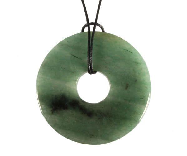 Aventurijn (groen) hanger donut 5 cm