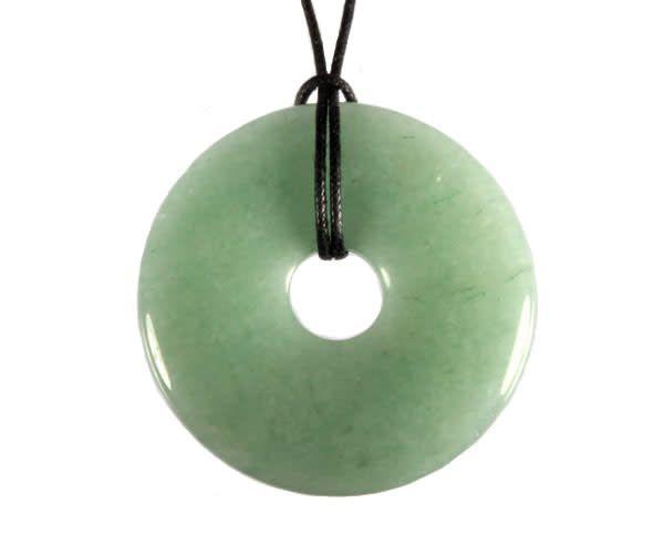 Aventurijn (groen) hanger donut 4 cm