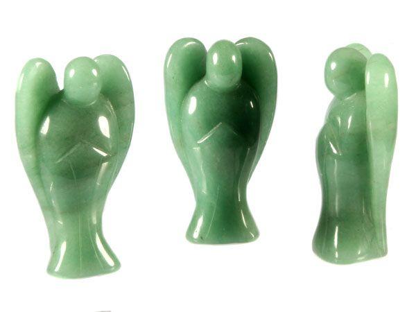 Aventurijn (groen) engel 7,5 cm