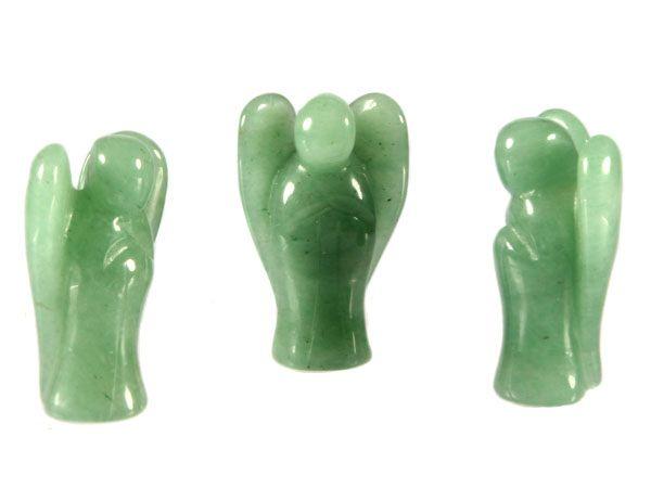 Aventurijn (groen) engel 3,5 cm