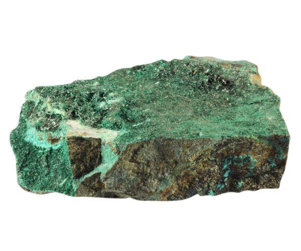 Atacamiet kristallen op chrysocolla 12 x 9,4 x 4,4 cm / 749 gram