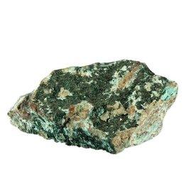 Atacamiet kristallen op chrysocolla 12 x 9 x 5 cm / 600 gram