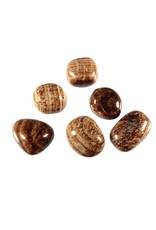 Aragoniet (bruin) steen getrommeld 10 - 20 gram