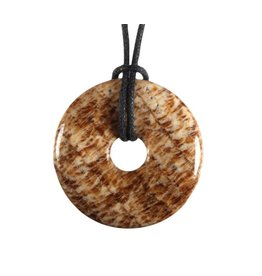 Aragoniet (bruin) hanger donut 3 cm