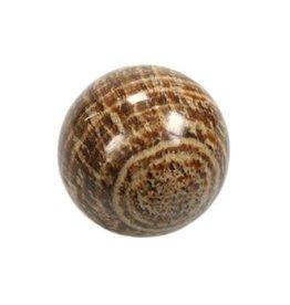 Aragoniet (bruin) edelsteen bol 46 mm