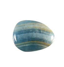 Aragoniet (blauw) steen plat gepolijst