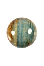 Aragoniet (blauw) edelsteen bol 40 mm