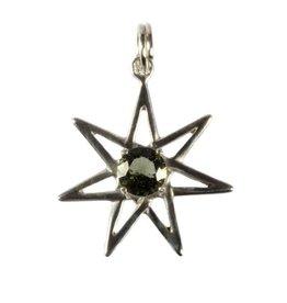 Zilveren hanger moldaviet pleiade