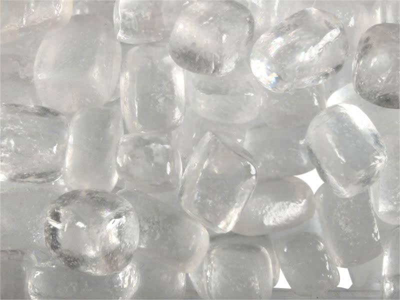 Calciet (wit) steen getrommeld 2 - 5 gram