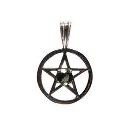 Zilveren hanger moldaviet pentagram (bescherming) 20 mm