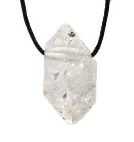Herkimer diamant hanger doorboord