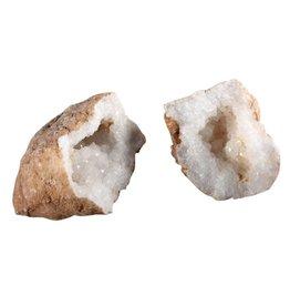 Bergkristal geode paar S