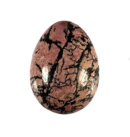 Rhodoniet edelsteen ei 5 x 3,8 cm