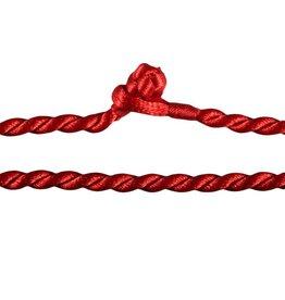 Gedraaid koord 40 cm rood