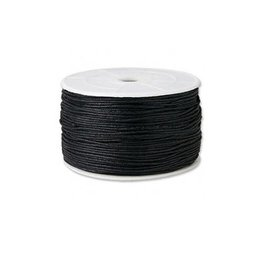Waskoord zwart 1 meter | 1 mm dik