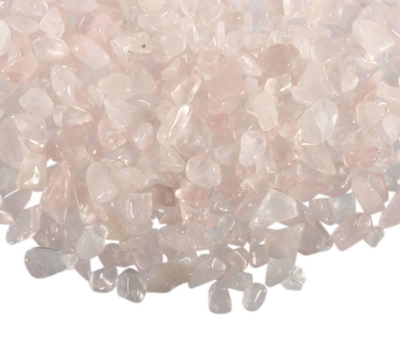 Rozenkwarts ondoorboorde split | 100 gram