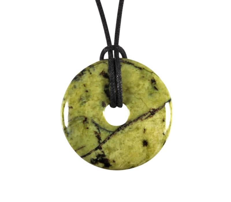 Serpentijn hanger donut 3 cm