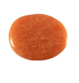 Aventurijn (oranje/rood) steen plat gepolijst