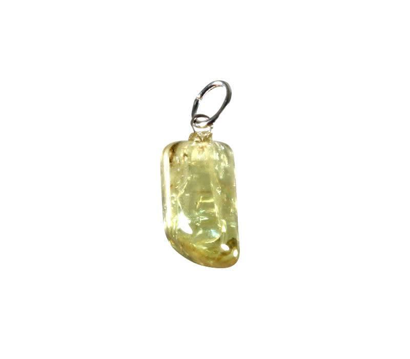 Apatiet (geel) hanger met zilveren oogje