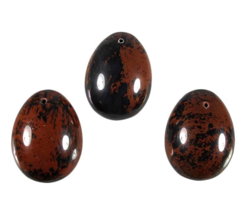 Obsidiaan (mahonie) edelsteen ei doorboord (yoni ei)