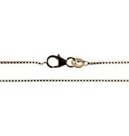 Gouden (14k) ketting Venetiaans 45 cm 0,9 mm dik