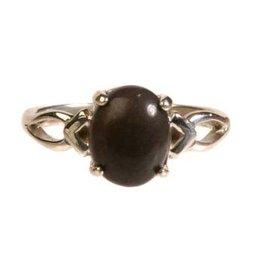 Zilveren ring master shamanite maat 17 1/2 | cabochon