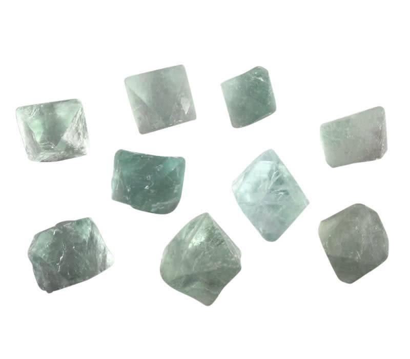 Fluoriet (groen) octaeder 5 - 10 gram