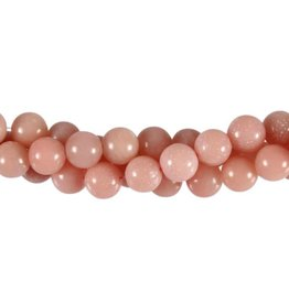 Aragoniet (roze) kralen rond 8 mm (streng van 40 cm)