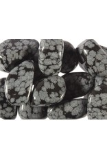 Obsidiaan (sneeuwvlok) steen getrommeld 10 - 20 gram