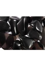 Obsidiaan (apachetranen) steen getrommeld 5 - 10 gram