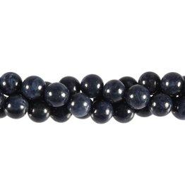 Saffier kralen rond 8 mm (streng van 40 cm)