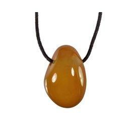 Agaat (geel) hanger doorboord
