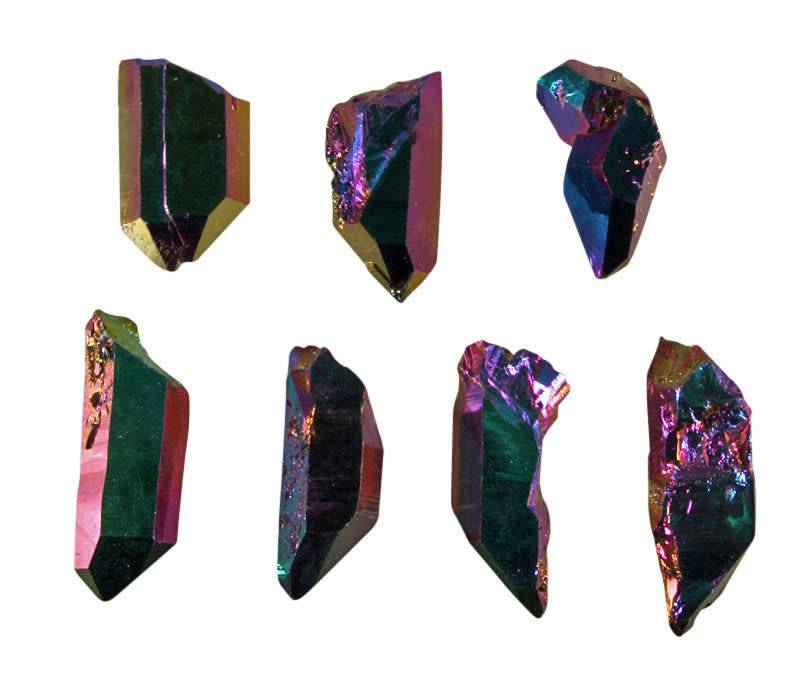 Titanium aura kwarts kristal 5 - 10 gram